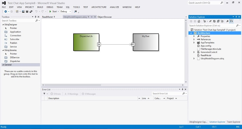 How to create ubiq mobile application from pre installed template component diagram of testchat solution ccuart Gallery